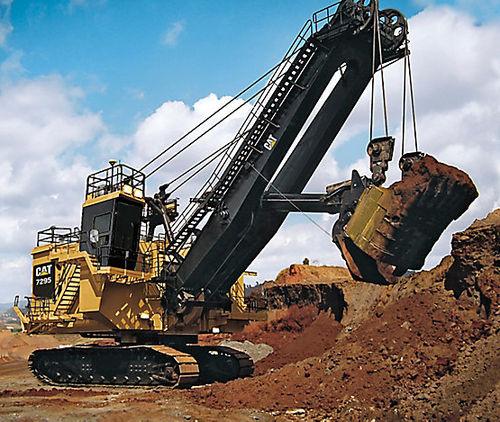 excavadora con orugas / de cable / para obra / eléctrica