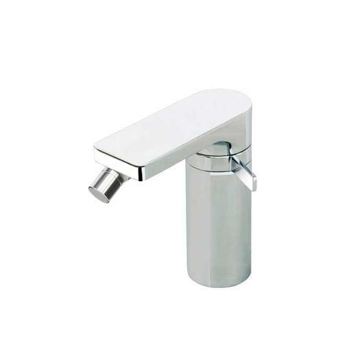 grifo monomando para bidé / de latón cromado / de baño / con 1 orificio