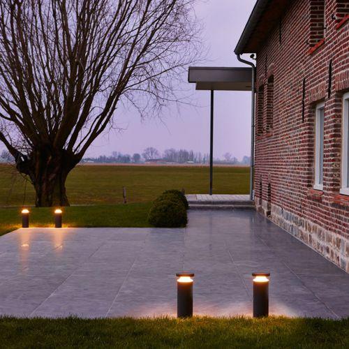 bolardo de iluminación de jardín / para espacio público / moderno / de aluminio