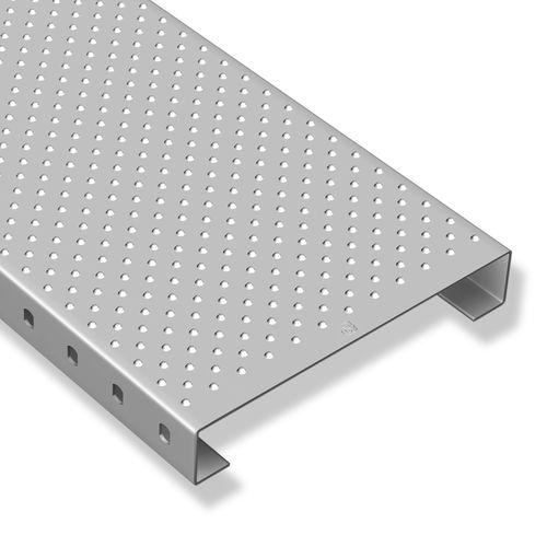 tarima de acero inoxidable / de acero galvanizado / de chapa perforada / para pasarela industrial