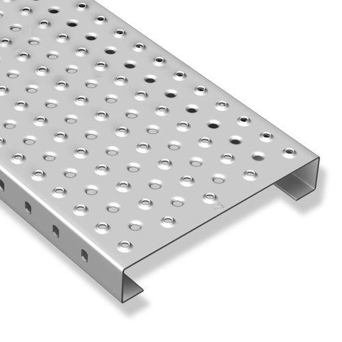 tarima de acero inoxidable / de acero galvanizado / de chapa perforada / para pavimento de exterior