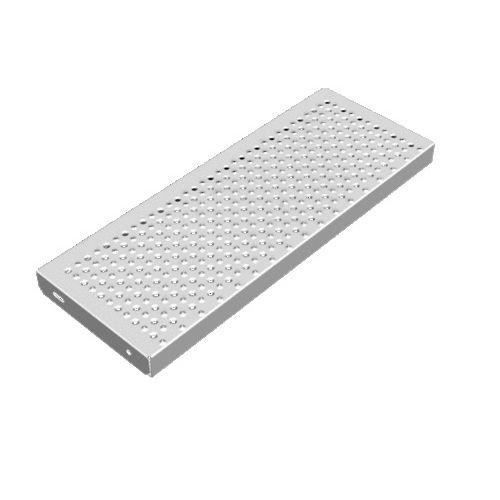 escalón de acero galvanizado / antideslizante
