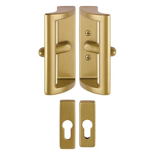 tirador de puerta para puerta / de aluminio / contemporáneo / con cerradura integrada