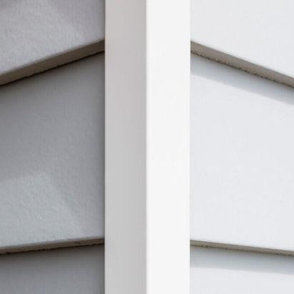 perfil de acabado de aluminio / para ángulo exterior / para fachada / de canto recto