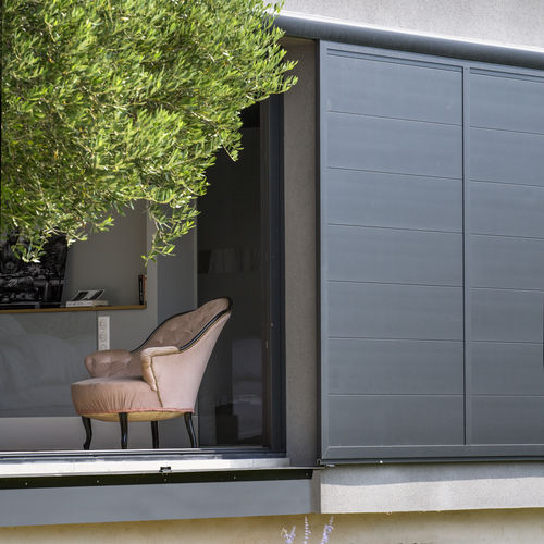contraventana corredera / de aluminio / para fachada / de corte térmico