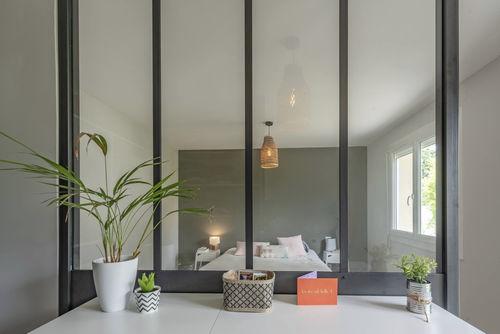 panel de vidrio para interiores / transparente