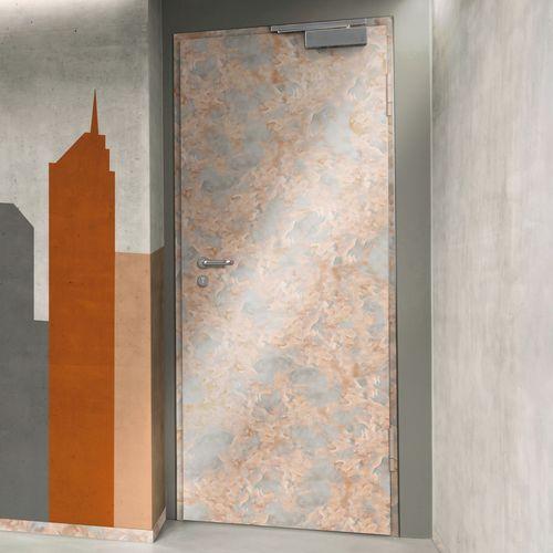 puerta de interior / abatible / de acero / cortahumo