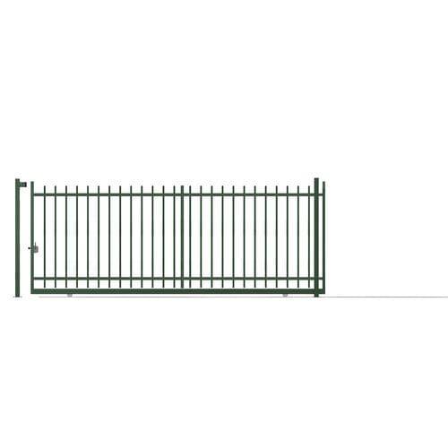 portón corredero / de acero galvanizado / de barras / para uso residencial