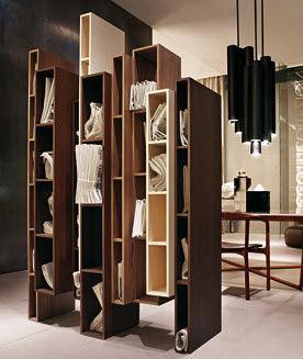 biblioteca modular / de diseño original / de madera