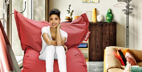sillón pera moderno / de tejido / para el sector servicios / de jardín