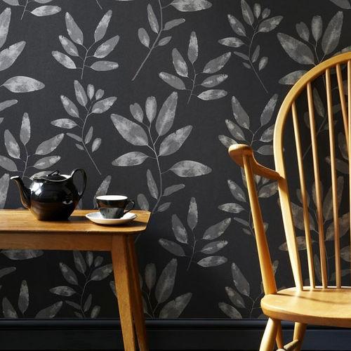 papel pintado moderno / con motivos florales