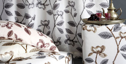 tela de tapicería / de flores / de lino