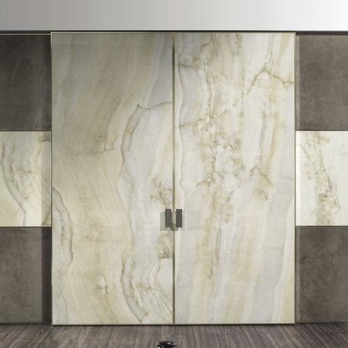 puerta de interior / corredera / de madera / aluminio