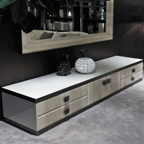 aparador moderno / de nogal / de cuero / de mármol