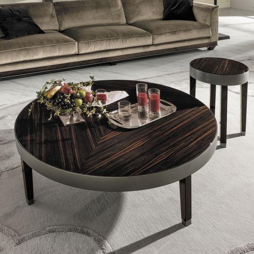 mesa de centro moderna / de nogal / de ébano / de metal