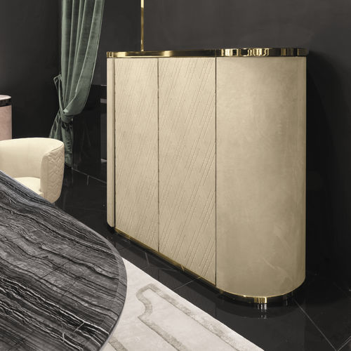 mueble bar moderno / de metal / de cuero / con luz