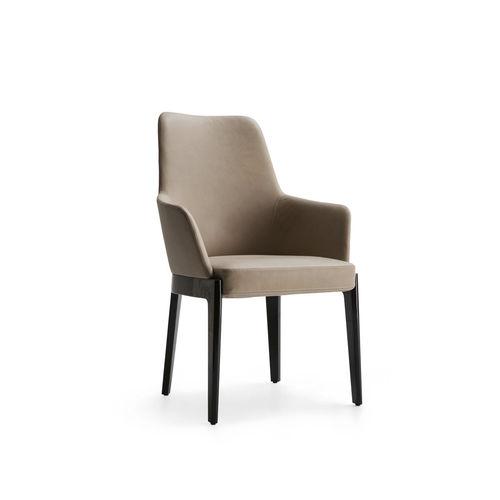 silla moderna / con revestimiento removible / tapizada / con reposabrazos