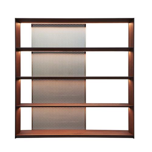 biblioteca moderna / de madera / de aluminio