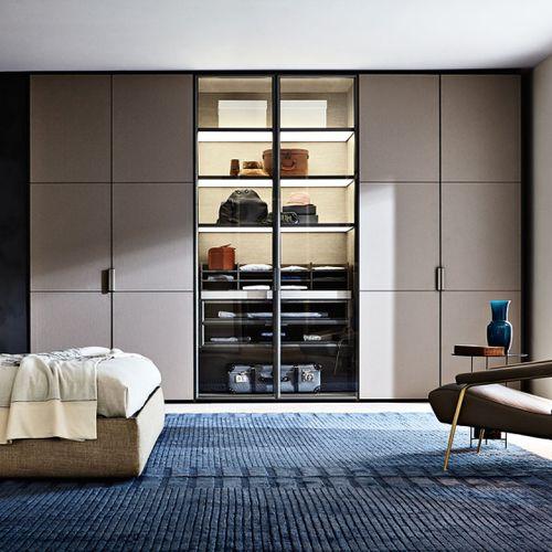 vestidor de pared / moderno / de aluminio / con puerta abatible