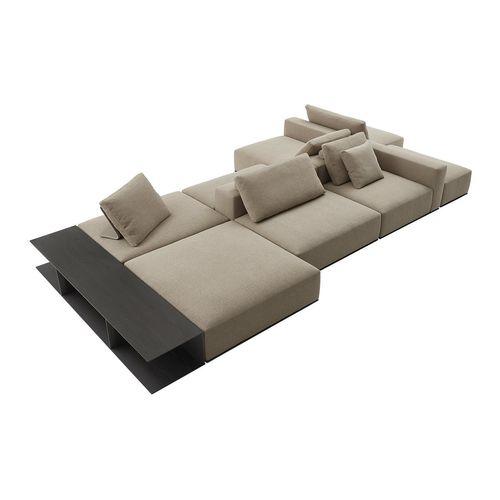 sofá modular / contemporáneo / de tejido / para hotel