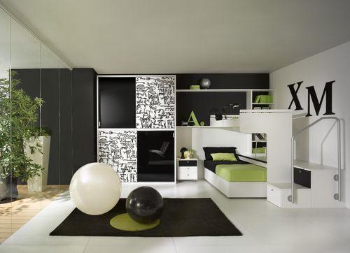 habitación para niños blanca