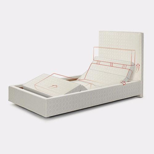 somier de matrimonio / reclinable / tapizado