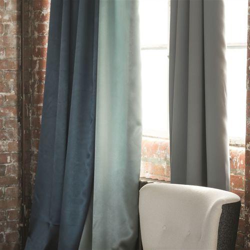 tela para cortinas / de color liso / de satén