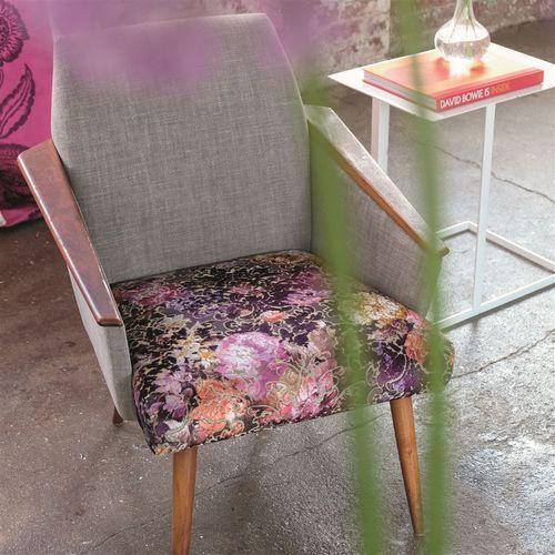 tela de tapicería / para cortinas / con motivos de piel de animal / de flores