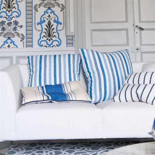 tela de tapicería / para cortinas / de rayas / de lino