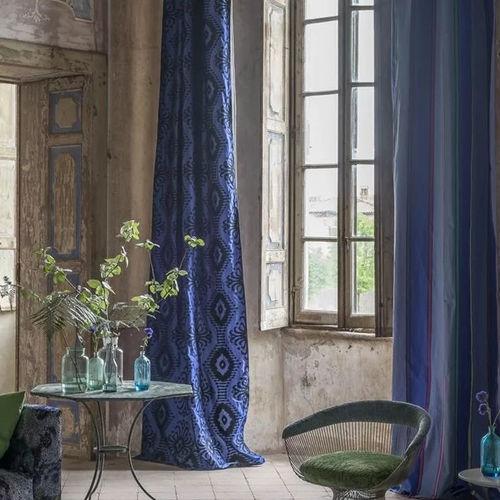tela de tapicería / para cortinas / con motivos / de algodón