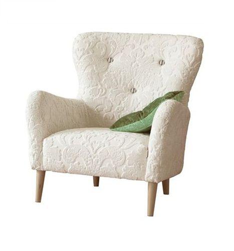 sillón clásico / de tejido / con orejas / tapizado