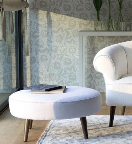otomana moderna / Chesterfield / de tejido / tapizada