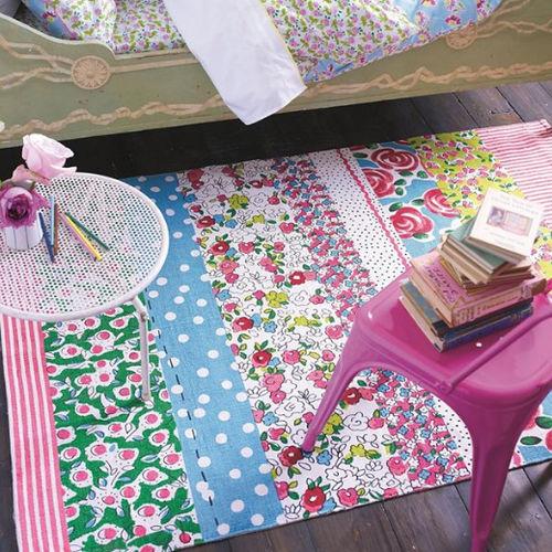 alfombra moderna / con motivos / de algodón / rectangular
