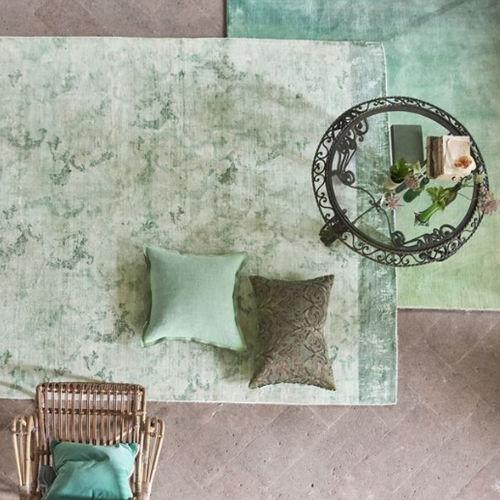 alfombra moderna / con motivos / de viscosa / rectangular