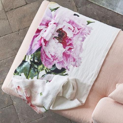 manta de viaje de lino