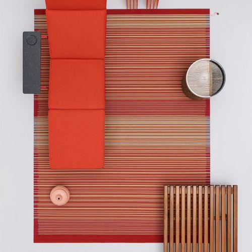 alfombra contemporánea / de rayas / multicolor / de lana de Nueva Zelanda