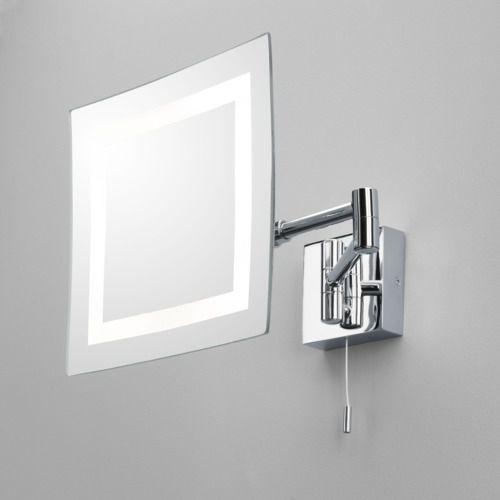 Espejo Bano Aumento Con Luz.Espejo Para Bano De Pared Con Luz De Aumento