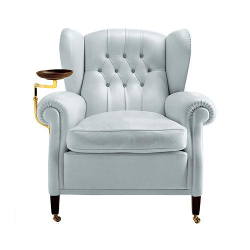 sillón clásico / de tela / de cuero / con orejas