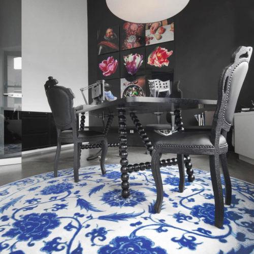silla de estilo / madera / de cuero / negra