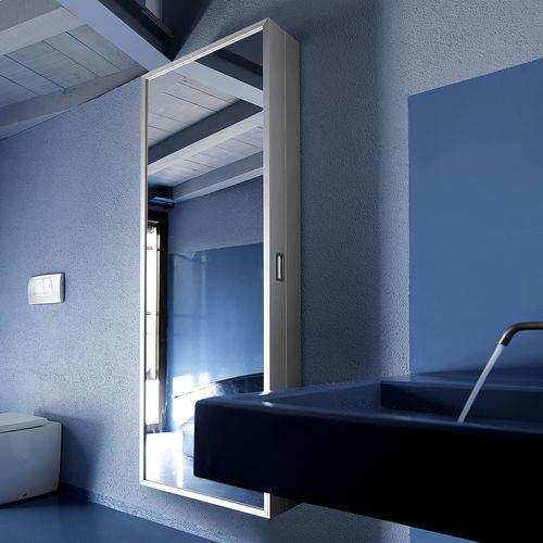 mueble de entrada contemporáneo / mural / de metal / con espejo