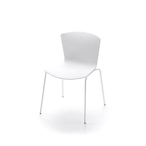 silla moderna / tapizada / de tejido / de contrachapado