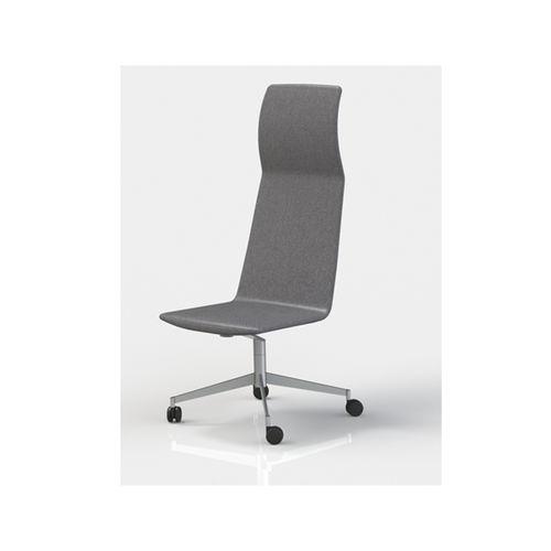 silla de oficina moderna / con ruedas / de tejido / de acero inoxidable