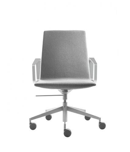 silla de conferencia moderna / tapizada / con reposabrazos / con ruedas