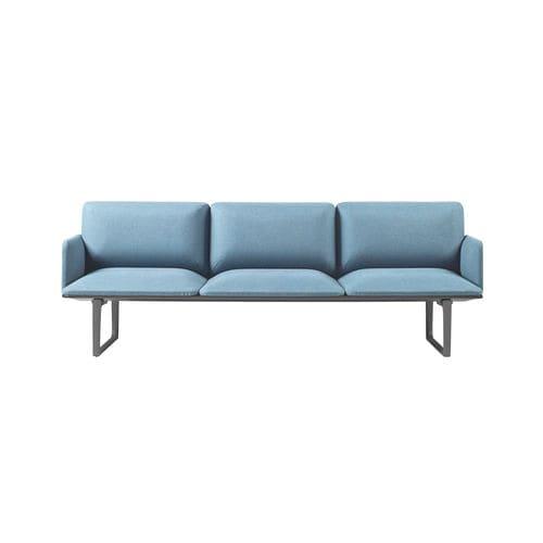 banqueta modular / contemporánea / de aluminio / de tejido