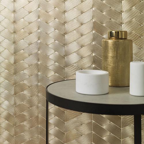 mosaico de interior / de pared / de metal / texturado