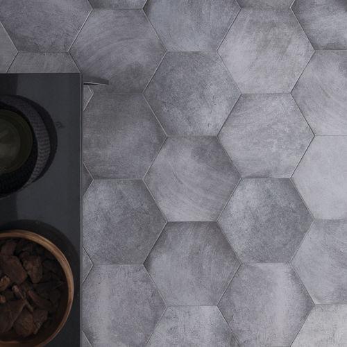 baldosa de interior / de pared / de gres porcelánico / hexagonal