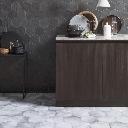 baldosa de interior / de pared / de cerámica / hexagonal
