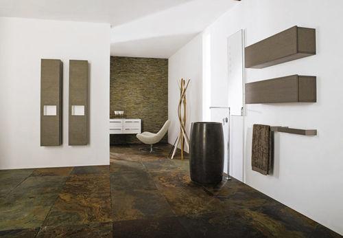 lavabo de pie / redondo / de piedra natural / contemporáneo