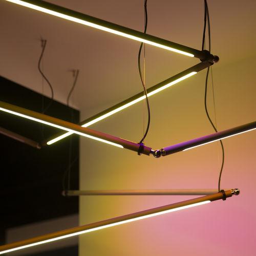 luminaria suspendida / LED / lineal / de aluminio anodizado