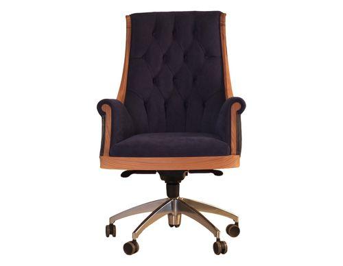 sillón de oficina clásico / de tejido / de cuero / de cerezo